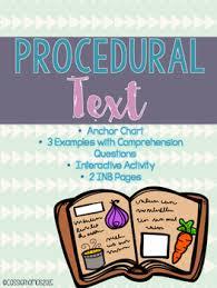 Procedural Text Mini Lesson Procedural Text Anchor