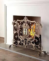 monogrammed fireplace screen t decorative fire screens ireland
