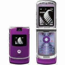 motorola flip phone. motorola moto razr v3i purple flip phone