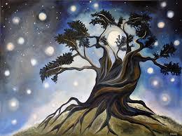 mysterious night 30 x 40 oil on canvas 2016 cedar