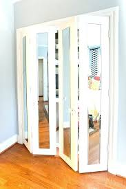 closet doors install mirror installation hang mirrors on your hanging door bifold hardware acme ins