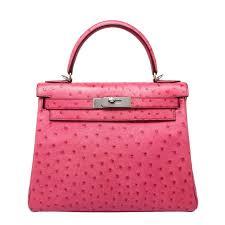 hermes kelly pink. hermes kelly 28cm fuchsia ostrich palladium hardware 1 pink