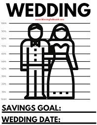 Wedding Savings Coloring Sheet Winning To Wealth