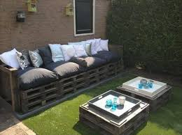 Image Pallet Garden Outdoor Furniture Ideas Diy Pallet Garden Table Wooden Sofa Decorative Pillows Upcycled Wonders 39 Outdoor Pallet Furniture Ideas And Diy Projects For Patio