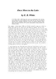 once more to the lake by e b white th higher ed worksheet   once more to the lake by e b white 10th higher ed worksheet lesson planet