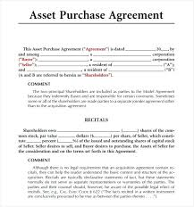 Simple Purchase Agreement Template Allowed Easy Sample With Medium ...