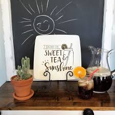 Raised On Sweet Tea And Sunshine Decorative Plate Southern Home Decor Sweet Tea Quote Free Shipping