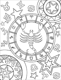 Sign coloring pages nice zodiac signs coloring pages letramac. Scorpius Zodiac Sign Coloring Page Free Printable Coloring Pages For Kids