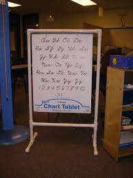 How To Make A Pvc Pocket Chart Stand Homemade Chart Stand Made From Pvc Pipe You Can Make It To