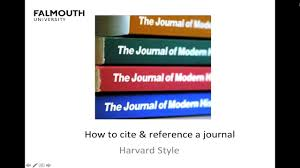 Falmouth How To Cite And Reference A Journal Article