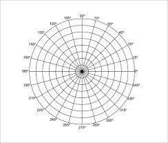 Free 9 Printable Polar Graph Paper In Pdf Word