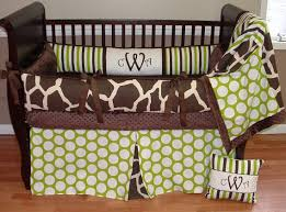 sweet pea giraffe brown and green boy crib bedding boy baby bedding crib sets custom girl baby bedding