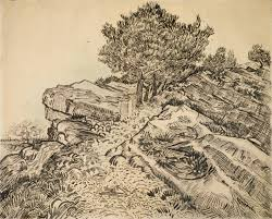 the rock of montmajour pine trees van gogh museum terms