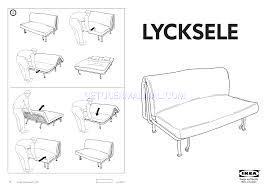 assembly instruction ikea lycksele frame sofabed assembly instruction pdf