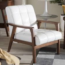 baxton studio mid century masterpieces white club chair com ping the