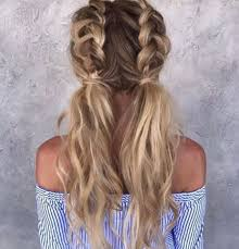 Two Tied Messy French Braided Pigtails Love The Wavy Texturized