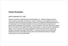 Biography Example Enchanting 48 Biography Samples Sample Templates