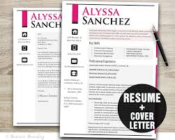 Etsy Resume Noticeable Pink Teacher Resume Template Resume Cover Letter 10