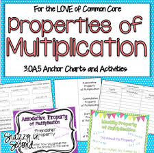 Properties Of Multiplication Chart Properties Of Multiplication By Erin Stephan Snazzy In