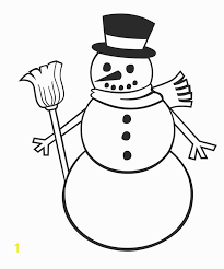 Template Of A Snowman Snowman With Scarf Coloring Page Snowman Template Snowman