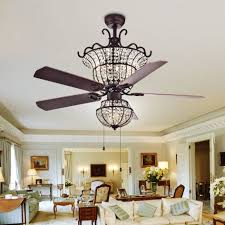 innovative crystal chandelier ceiling fan lighting kit light rubbed white with remote