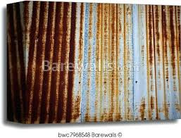 rusted corrugated metal canvas print of a rusty corrugated iron metal fence zinc wall rusty corrugated
