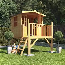 childrens wooden playhouse treehouse tower outdoor play house kids garden house 733781207732