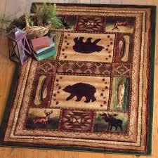 bear wilderness rug 3 x 7