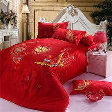 Chinese Dragon and Phoenix Wedding Red Bedding Set, Cotton Home ... & Chinese Dragon and Phoenix Wedding Red Bedding Set, Cotton Home Textiles Quilt  Cover Pillowcase Bed Sheet Set Queen King Size-in Bedding Sets from Home ... Adamdwight.com