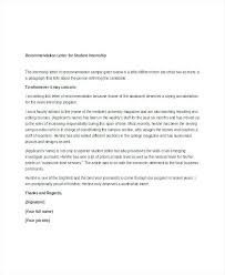 Intern Recommendation Letter Sample Simple Reference Letter Simple Recommendation Letter Sample