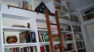 home library ladder furniture excellent sample of rolling library ladder with white bookcase for home rolling