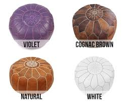 Moroccan Leather Pouf Nz