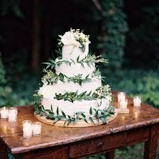 Rustic Wedding Cake With Greenery Weddinggawker