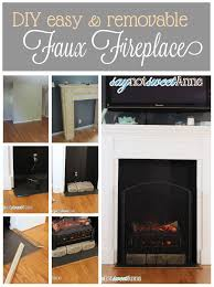 diy easy removable fireplace create a beautiful and believable fireplace on the