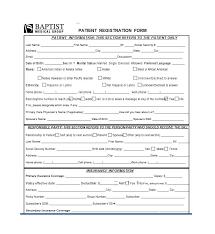 Medical Registration Forms Template Magdalene Project Org