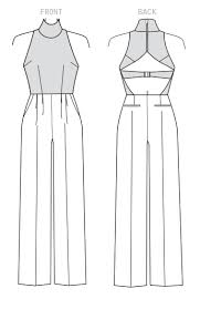 Jumpsuit Pattern Vogue Simple Vogue 48 REBECCA VALLANCE Womens Custom Fit Sleeveless Jumpsuit