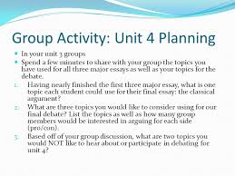 unit overview updated week intro to informative writing  8 group
