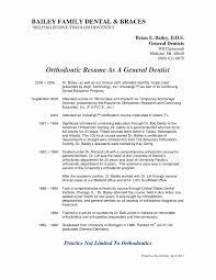 Orthodontic Assistant Resume Sample Lovely 50 Fresh S Orthodontic