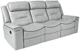 com homelegance darwan 88 double lay flat reclining sofa light gray leather gel match kitchen dining
