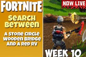 Wooden Bridge Game Best Search Between A Stone Circle Wooden Bridge Red RV Fortnite Week