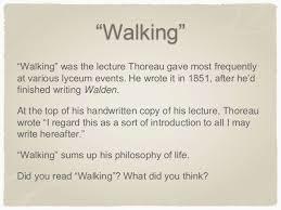 thoreau walking ldquowalkingrdquo