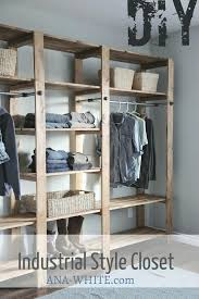 how to build wood closet shelves wood and pipe closet