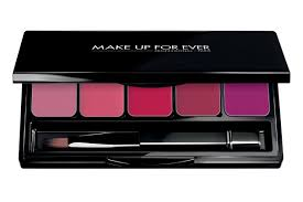 make up for ever rouge artist lip palette 5 lipstick palette shades to create you