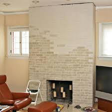 removing bricked up fireplace bricking cleaning bricks inside partially painted brick reopen bricked up fireplace replace bricks inside cleaning