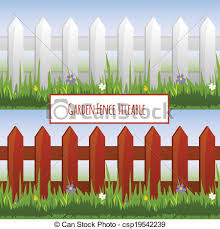 picket fence drawing. Drawn Fence Garden #2 Picket Drawing