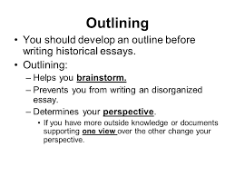 parts of the apush test multiple choice questions distracters  outlining you should develop an outline before writing historical essays