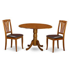 3 Pc Kitchen Table Set Dining Table And 2 Leather Kitchen Chairs
