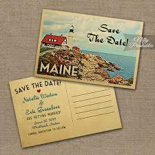 Maine Save The Date Postcards Printable Maine Wedding Postcard