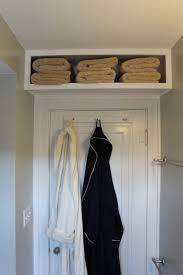 install a shelf above your bedroom door