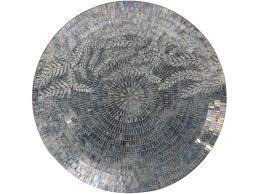 sofia blue mosaic glass round wall hanging
